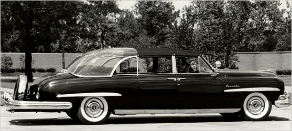 1950 Lincoln with first bubble top - Eisenhower's idea