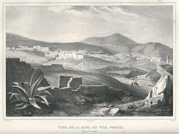 """Vista de la Mina de Veta Grande cerca de Zacatecas"""