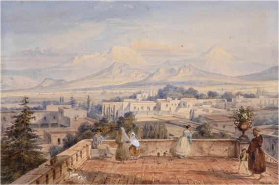 """""""Volcanes desde Tacubaya"""""""